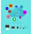 Colored cloud technologies - Infographics vector image