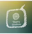 sun white icon Doodle Christmas vector image