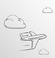 Doodle Airplane Stock vector image