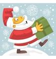 Santa Claus bringing present vector image