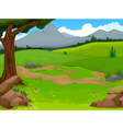 beauty forest with landscape background vector image