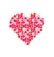 big heart made of small hearts vector image