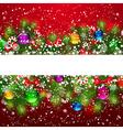 Christmas pine border vector image