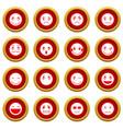 emoticon red circle set vector image