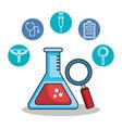 health medicine set icons vector image