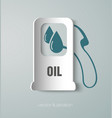 icon gas station paper vector image