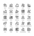 industrial and construction line icon set 4 vector image