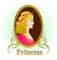 princess portrait vector image