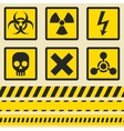 Warning signs symbols Seamless tape vector image