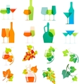 Colorful wine icons vector image vector image