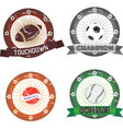sport labels vector image vector image