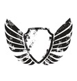 winged crest vector image