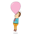 Man with bubble gum vector image vector image