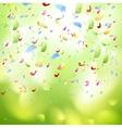 Bright shiny confetti abstract design template vector image