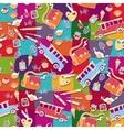School pattern background vector image