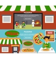 Pizzeria Banners Set vector image