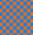 orange and blue tablecloth diagonal seamless vector image