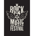 rock music festival vector image vector image