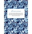 Cute card cover with abstract blue background and vector image