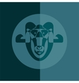 Abstract ram vector image