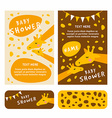 Baby shower invitation card template Colored flat vector image