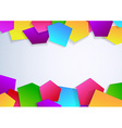 Banner with colorful tile elements vector image