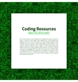 Coding Resources Paper Template vector image