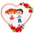Couple in love Template valentines card vector image