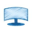 drawing screen computer display equipment vector image