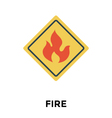 Fire Warning vector image