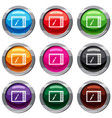 graphics tablet set 9 collection vector image