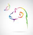 Monkeys and butterflies vector image