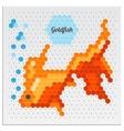 Mosaic Goldfish vector image