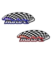 Motor racing icons in two colour options vector image