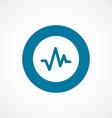 pulse bold blue border circle icon vector image