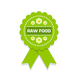 Raw food rosette vector image