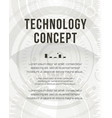 technology report flyer design template brochure vector image