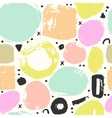 Trendy seampless pattern with brush strokes vector image