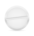 White pill vector image