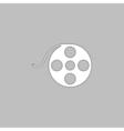 Film reel computer symbol vector image