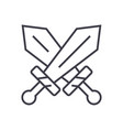 Swords sign line icon sign vector image