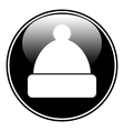 Winter hat symbol button vector image
