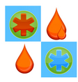 medic icons vector image vector image
