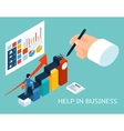 Business mentor help partner Isometric 3d vector image