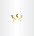 golden king crown logo vector image