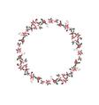 Round Christmas garland with euphorbia pulcherrima vector image vector image