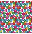 Colorful Sewing Buttons Seamless Pattern vector image