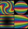 Rainbow Textures vector image vector image