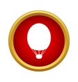 Air balloon icon in simple style vector image
