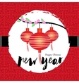 Chinese new year Greeting card celebration vector image